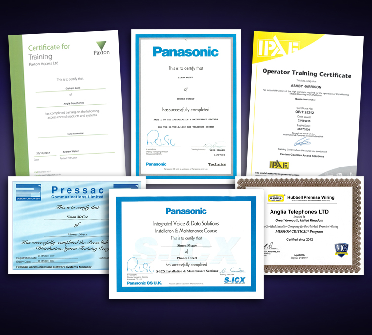 Certificates Small Banner